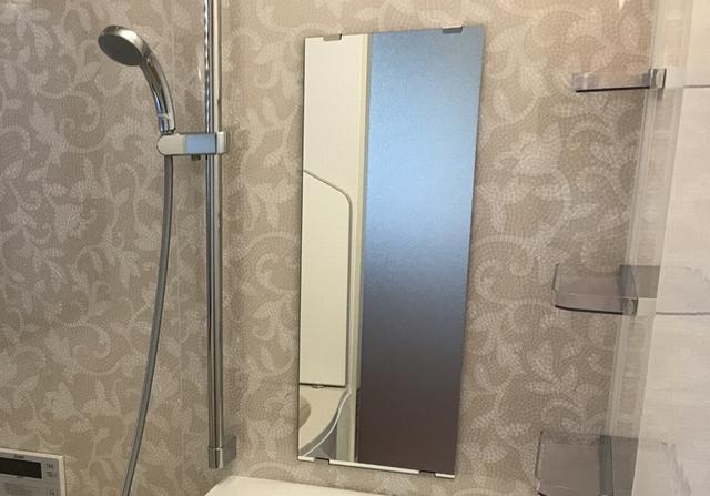 鏡にこびり付いた水あかウロコを取る方法