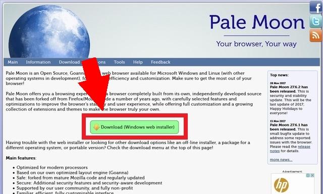 「Pale Moon」ダウンロードボタン