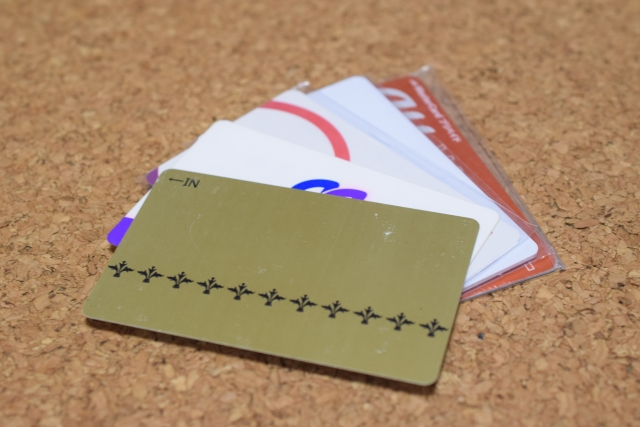 プラスチック製のカード類